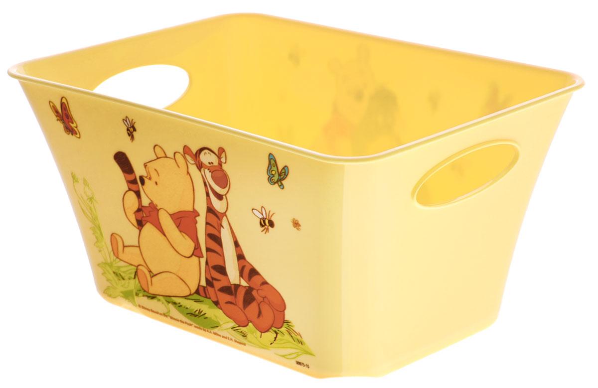 М-пластика Корзинка Винни-Пух 1,5 лМ 2385-ДКорзинка М-пластика Винни-Пух станет достойным украшением любой детской комнаты. Выполнена из безопасного материала и оформлена изображениями персонажей из одноименного мультфильма.Корзина подойдет для хранения мелочей (резиночек и заколок, карандашей, мелких игрушек). Также данная корзина подходит для пищевых продуктов. Для более удобного использования имеются специальные ручки. Благодаря выемкам на основании корзинки, они легко ставятся друг на друга. Плавная форма изделия, стильный дизайн делают корзинки ярким дополнением интерьера.