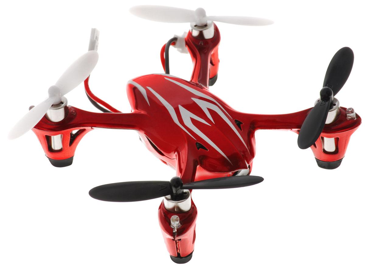 Hubsan Квадрокоптер на радиоуправлении X4 Mini цвет красный