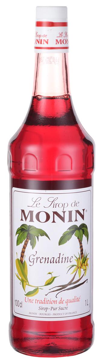 Monin Гренадин сироп, 1 л0120710Сиропы Monin выпускает одноименная французская марка, которая известна как лидирующий производитель алкогольных и безалкогольных сиропов в мире. В 1912 году во французском городке Бурже девятнадцатилетний предприниматель Джордж Монин основал собственную компанию, которая специализировалась на производстве вин, ликеров и сиропов. Место для завода было выбрано не случайно: город Бурже находился в непосредственной близости от крупных сельскохозяйственных районов — главных поставщиков свежих ягод и фруктов.Производство сиропов стало ключевым направлением деятельности компании Monin только в 1945 году, когда пост главы предприятия занял потомок основателя — Пол Монин. Именно под его руководством ассортимент марки пополнился разнообразными сиропами из натуральных ингредиентов, которые молниеносно заслужили блестящую репутацию в кругу поклонников кофейных напитков и коктейлей. По сей день высокое качество остается базовым принципом деятельности французской марки. Сиропы Монин создаются исключительно из натуральных ингредиентов по уникальным технологиям, позволяющим сохранять в готовом продукте все полезные свойства природного сырья. Эксперты всего мира сходятся во мнении, что сиропы Monin — это «законодатели мод» в миксологии. Ассортимент французской марки на сегодняшний день является самым широким и насчитывает полторы сотни уникальных вкусовых решений. В каталоге компании можно найти как классические вкусы для кофейных напитков (шоколадный, ванильный, ореховый и другие сиропы), так и весьма экзотические варианты (сиропы со вкусом кокоса, зеленой мяты, тирамису, блю курасао, аниса, грейпфрута, пина колады и т. д.) Отметим, что все сиропы обладают мягкими, деликатными вкусороароматическими характеристиками, что говорит о натуральном составе продуктов.Гренадин на сегодняшний день является наиболее распространенным и универсальным подслащивающим веществом и ароматизатором в классической барной миксологии. Как трудно в это верить, он не имеет н