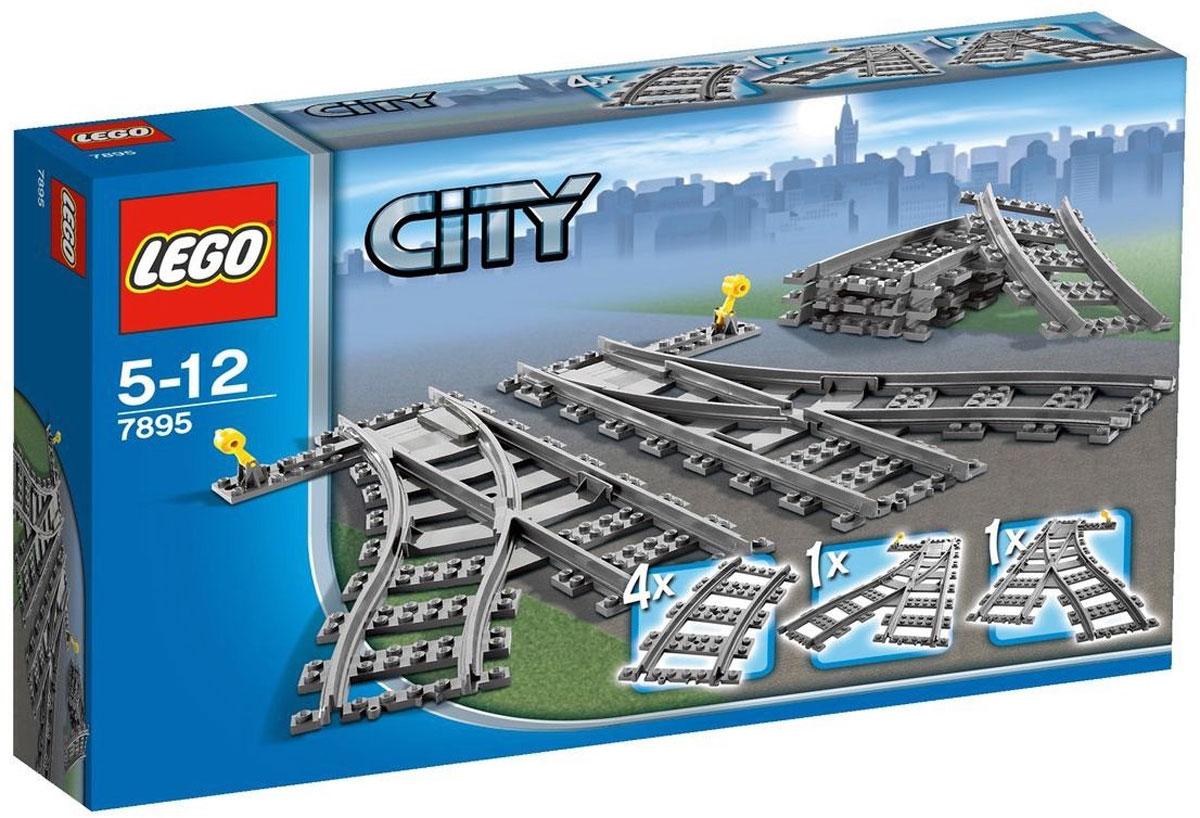 LEGO City Конструктор Железнодорожные стрелки 7895 lego city конструктор внедорожник каскадера 60146