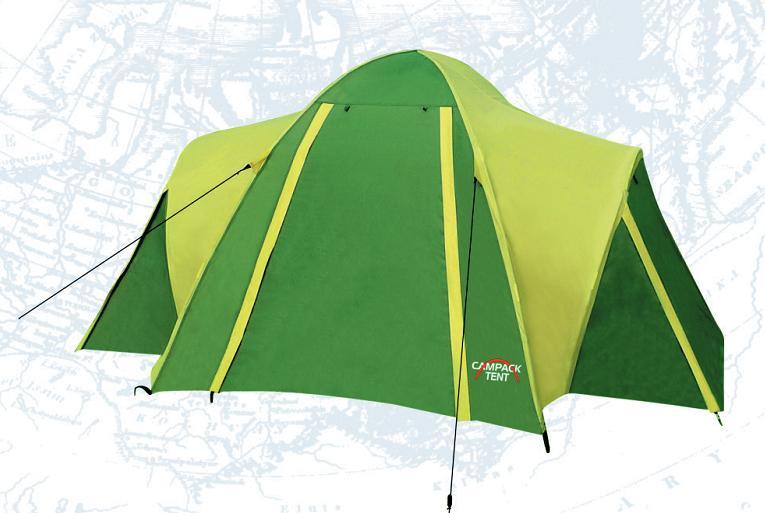 Палатка Campack Tent Hill Explorer 2, цвет: серо-зеленый67742Campack-Tent - это классика туристических палаток. Благодаря новой конструкции и третьей дуге у палатки увеличился размер тамбура, а два входа и достаточно большие отверстия для вентиляции обеспечат комфорт даже при высоких температурах.·Вес палатки с установочным комплектом и упаковкой 5 кг. ·Противомоскитная сетка, состоящая из множества маленьких ячеек, не позволяющих насекомым проникать внутрь палатки·Фиберглассовый каркас, диаметр 8,5 мм·Материал пола - Tarpaulin 10x10PE (PE-терпаулинг). Специальная ткань, используемая для изготовления дна палаток. Прочная на разрыв, непромокаемая. Позволяет обеспечить водонепроницаемость ткани не менее 10 000 мм. водяного столба·Материал внутренней палатки - P.Taffeta 170T. Ткань изготовлена из полиэфирных волокон, свободно пропускает воздух·Материал тента - P.Taffeta 190T PU. Ткань изготовлена из полиэфирных волокон с полиуретановым покрытием. Все швы проклеены·Водонепроницаемость тента - 3000 мм водяного столба