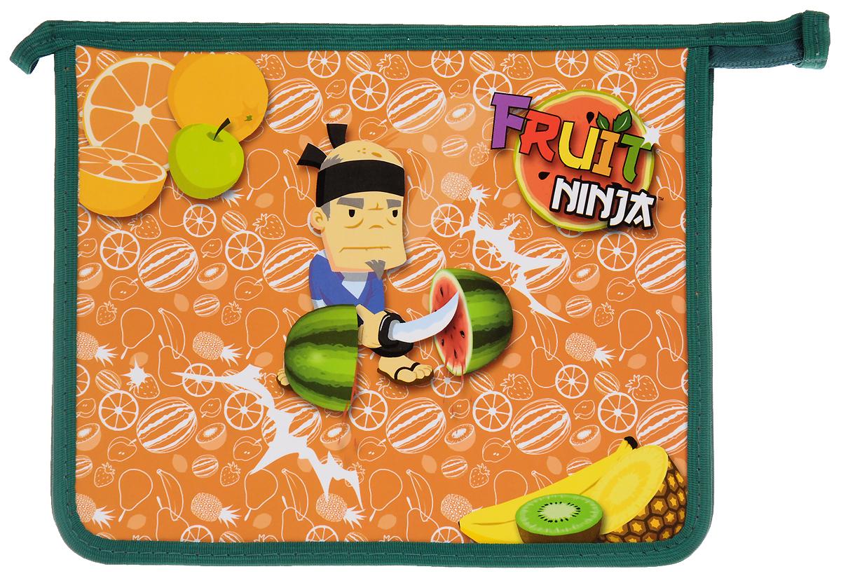 Action! Папка для тетрадей Fruit NinjaAC-1121RDПапка Action! Fruit Ninja предназначена для хранения тетрадей, рисунков и прочих бумаг с максимальным форматом А5. Папка выполнена из прочного материала и содержит одно отделение. Закрывается она на застежку-молнию. Лицевая сторона папки оформлена ярким рисунком.С папкой Action! Fruit Ninja тетради вашего ребенка всегда будут выглядеть опрятно.
