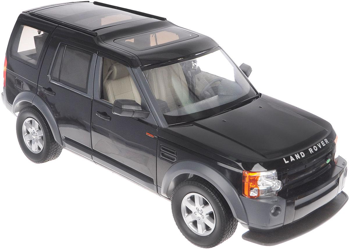 """Радиоуправляемая модель Rastar """"Landrover Discovery 3"""" станет отличным подарком любому мальчику! Все дети хотят иметь в наборе своих игрушек ослепительные, невероятные и крутые автомобили на радиоуправлении. Тем более, если это автомобиль известной марки с проработкой всех деталей, удивляющий приятным качеством и видом. Одной из таких моделей является автомобиль на радиоуправлении Rastar """"Landrover Discovery 3"""". Это точная копия настоящего авто в масштабе 1:10. Авто обладает неповторимым провокационным стилем. Потрясающая маневренность, динамика и покладистость - отличительные качества этой модели. Капот, передние двери, багажник открываются. Приборная панель и салон выполнены в мельчайших подробностях. Возможные движения: вперед, назад, вправо, влево, остановка. Имеются световые эффекты. Пульт управления работает на частоте 27 MHz. Игрушка работает от сменного аккумулятора (входит в комплект). Для работы пульта управления необходима 1..."""