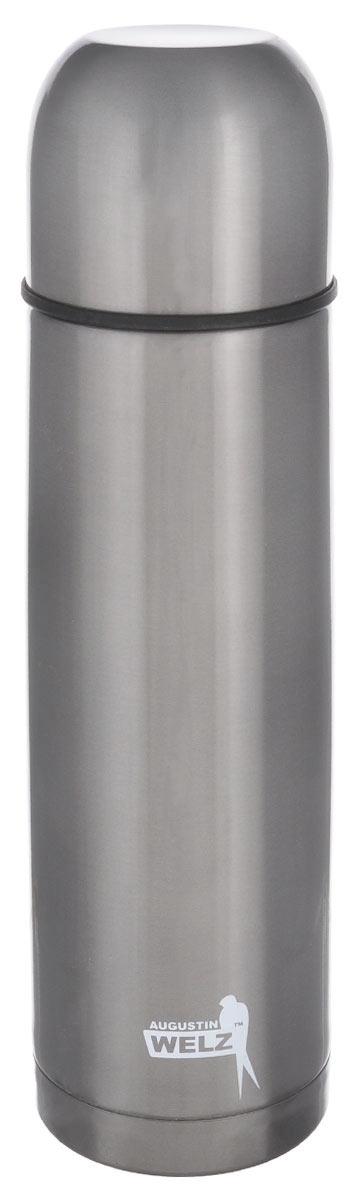 Термос Augustin Welz, 0,5 лVT-1520(SR)Термос Augustin Welz идеально в пишется в салон автомобиля любой марки. Оптимальные размеры, стильный лаконичный дизайн. Комбинация двух видов нержавеющей стали (18/0 для внешнего корпуса и 18/8 для внутренней колбы) обеспечивает высокую прочность, безупречный внешний вид и великолепные потребительские качества: не нагревается, не боится ударов и отлично сохраняет температуру. Крышку можно использовать в качестве чашки для напитков. Пробка с кнопкой удобна в использовании и позволяет, не отвинчивая ее, наливать напитки после простого нажатия.Подходит для горячих и холодных напитков.Высота термоса (с учетом крышки): 26 см. Диаметр горлышка: 4,5 см.Диаметр дна: 6,5 см.