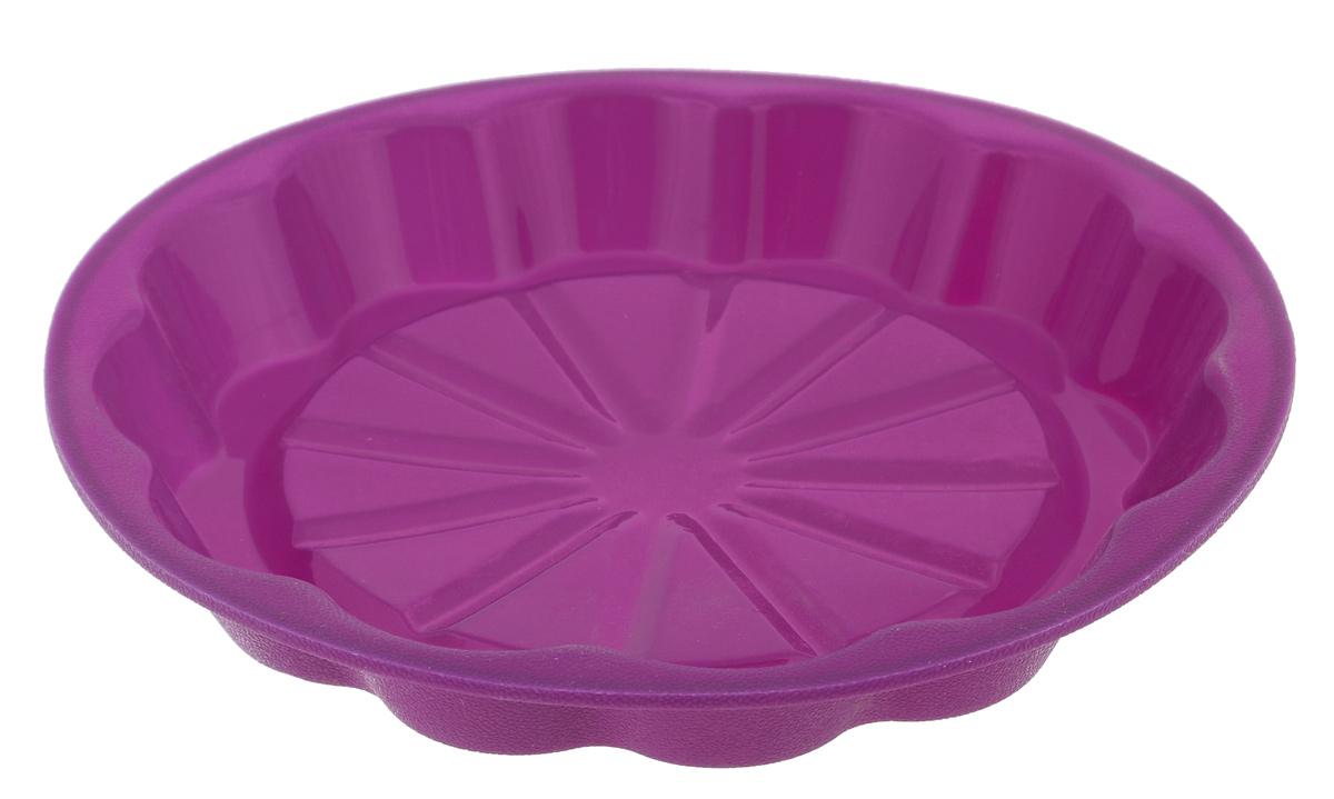 Форма для выпечки Marmiton Апельсин, цвет: фиолетовый, диаметр 24,5 см630886Форма Marmiton Апельсин выполнена из силикона, благодаря этому выпечку вынимать легко и просто. Материал устойчив к фруктовым кислотам, может быть использован в духовках и микроволновых печах.Такая форма идеальна для приготовления разнообразной выпечки, льда, конфет, желе, запеканок, шоколада, пудингов. Изделие выдерживает температуру от -40°С до +240°С. Можно мыть и сушить в посудомоечной машине.Диаметр (по верхнему краю): 24,5 см.Диаметр дна: 19 см.Высота стенки: 3,5 см.