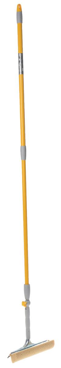 Стекломойка Apex Squizzo, с регулируемым наклоном и телескопической ручкой, цвет: желтый, серый, 95-145 смЧС 2.3_оранжевыйСтекломойка Apex Squizzo с мягкой поролоновой губкой и резиновым скребком станет незаменимым помощником при уборке. Ее можно использовать для мытья стекол как дома, так и в автомобиле.Удобная рукоятка выполнена из окрашенного металла и имеет телескопическую форму, а также снабжена отверстием на конце для подвеса. Рукоятку можно регулировать и фиксировать до нужной вам длины, а также можно выбрать угол наклона рабочей части, которая поворачивается на 360°. Оригинальная, современная и удобная стекломойка сделает уборку эффективнее и приятнее.Размер губки: 20 см х 4,5 см х 5,5 см.Минимальная длина ручки: 95 см.Максимальная длина ручки: 145 см.