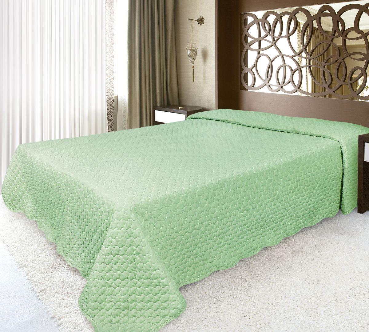 Покрывало Волшебная ночь 220 х 240 см, зеленыйES-412Волшебная ночь ПОКРЫВАЛО 220/240,ткань верха - МИКРОФИБРА, полиэстер 100%, наполнитель - полиэстер 100%, ЗеленыйПокрывала Волшебная ночь из микрофибры - подходят для любого интерьера, выполнены в приятных пастельных тонах, не мнутся, отлично драпируются и держат форму, не электризуются, обладают мягкой и бархатистой фактурой