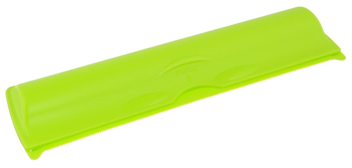 Футляр для фольги и пленки Idea, цвет: салатовый, 33,5 х 9 х 5 смМ 1204_салатовыйФутляр Idea поможет с легкостью отмерить нужное количество пленки или фольги. Изделие, выполненное из пищевого пластика, плотно закрывается, благодаря специальным защелкам. Зубчатый край изделия легко отрежет кусок фольги или пленки необходимой длины без смятия. Подходит для большинства популярных размеров рулона. Футляр Idea станет не заменимым помощником на вашей кухне.