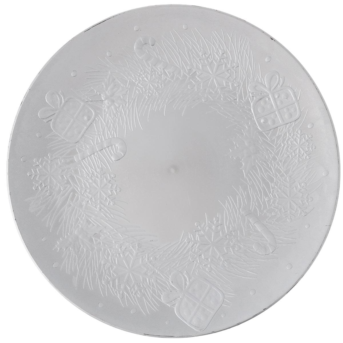 Блюдо Lillo Новогоднее, цвет: серебристый, диаметр 33 см40249Блюдо Lillo Новогоднее, выполненное из высококачественного пластика, оформлено объемнымиизображениями в виде подарков и снежинок.Блюдо Lillo Новогоднее доставит истинное удовольствие ценителям прекрасного. Яркий дизайн, несомненно придется вам по вкусу. Диаметр: 33 см. Высота стенки: 2 см.
