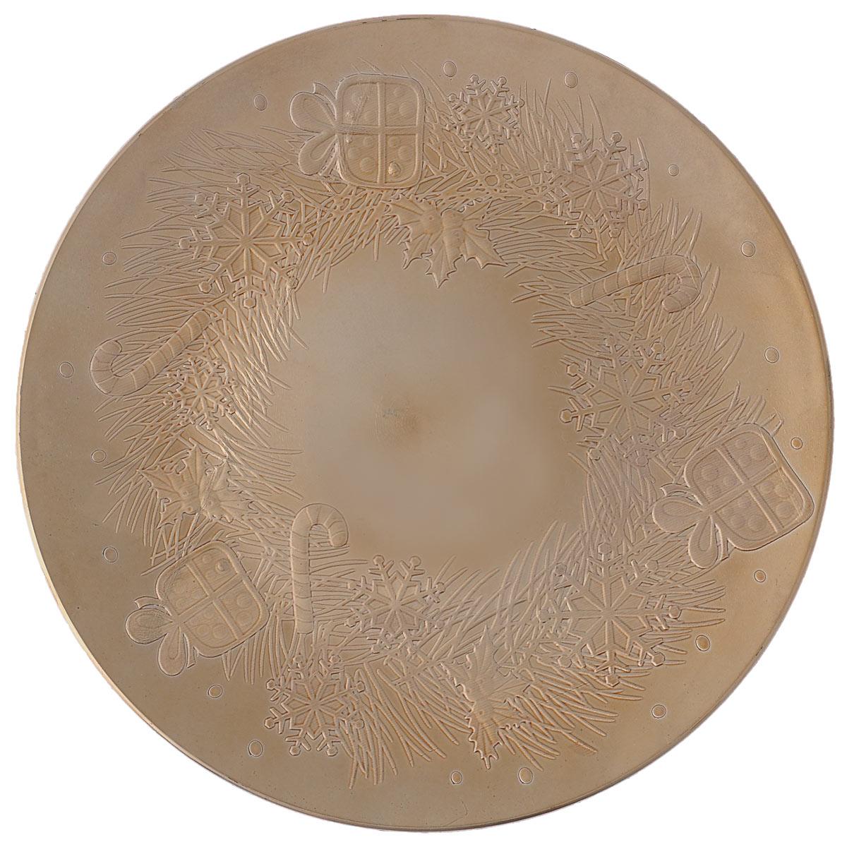 Блюдо Lillo Новогоднее, цвет: золотистый, диаметр 33 смFS-91909Блюдо Lillo Новогоднее, выполненное из высококачественного пластика, оформлено объемнымиизображениями в виде подарков и снежинок.Блюдо Lillo Новогоднее доставит истинное удовольствие ценителям прекрасного. Яркий дизайн, несомненно придется вам по вкусу. Диаметр: 33 см. Высота стенки: 2 см.