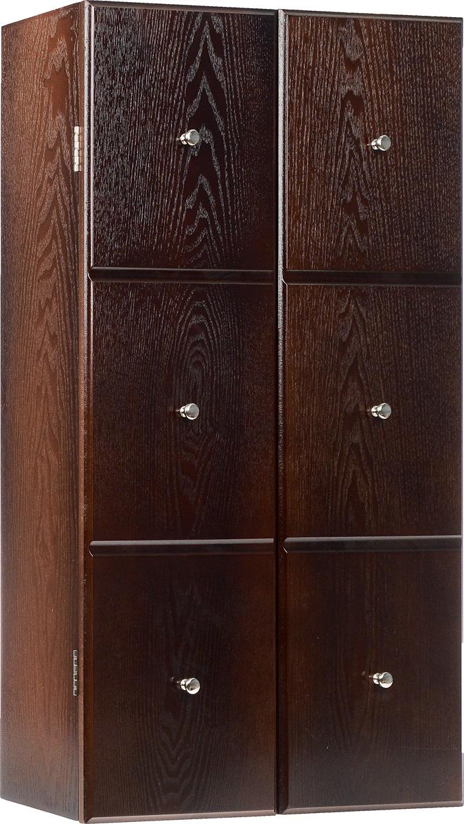 Шкатулка для ювелирных украшений настенная, цвет: коричневый.RG-D31SНастенная шкатулка для ювелирных украшений поможет стильно и аккуратно хранить ваши украшения. Шкатулка выполнена из натурального дерева. Изделие размещается на стене с помощью шурупов (не входят в комплект). Шкатулка имеет одно основное отделение с зеркалом. Внутри расположено 7 металлических крючков и 3 выдвижных отделения для хранения браслетов, цепочек, колье. Дверца закрывается на магниты.Стильная настенная шкатулка придется по вкусу всем любительницам изысканных вещей, она прекрасно подойдет для туалетного столика и будет радовать свою обладательницу.