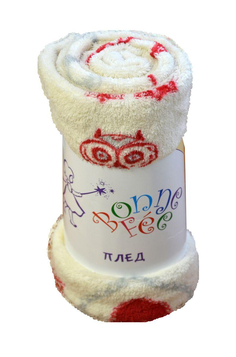 Плед плюшевый Сова, цвет белый, 95 х 65 см531-105Мягкий и приятный на ощупь плед Совы согреет в прохладные вечера и сделает ваш дом праздничным и новогодним. Дизайн жизнерадостный, зимний, будет способствовать хорошему настроению! Наслаждайтесь комфортом и уютом с пледом Совы и пусть в вашем доме будет тепло!