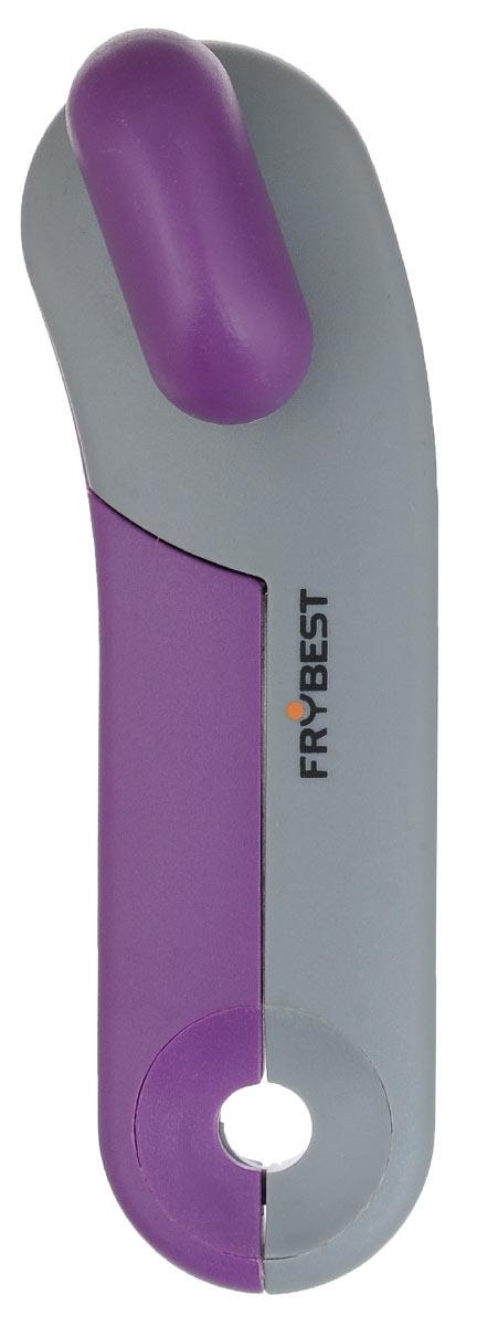 Открывалка для банок Frybest Rainbow, цвет: фиолетовый, серый94672Открывалка Frybest Rainbow выполнена из высококачественной нержавеющей стали и пластика. Прибор легко и безопасно открывает все типы консервных банок, не оставляя заусенцев на краях. Порадуйте себя и своих близких качественным и функциональным подарком.Длина открывалки: 16,5 см.