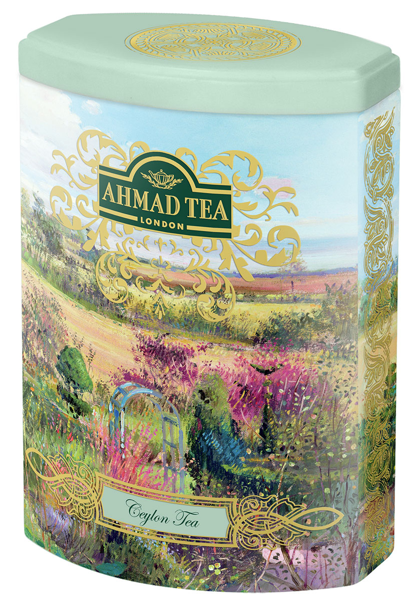 Ahmad Ceylon Tea черный листовой чай, 100 г (ж/б)0120710Цейлонский чай Ahmad Ceylon Tea состоит из верхних листочков оранж пеко. Англичане традиционно предпочитают безупречное качество, считая его залогом благополучия и стабильности. Смесь верхних листьев высокогорного цейлонского чая в совершенном исполнении Ahmad Tea необычайно богата ароматом, золотистым цветом и характерным вкусом. Хорошо сочетается с лимоном.