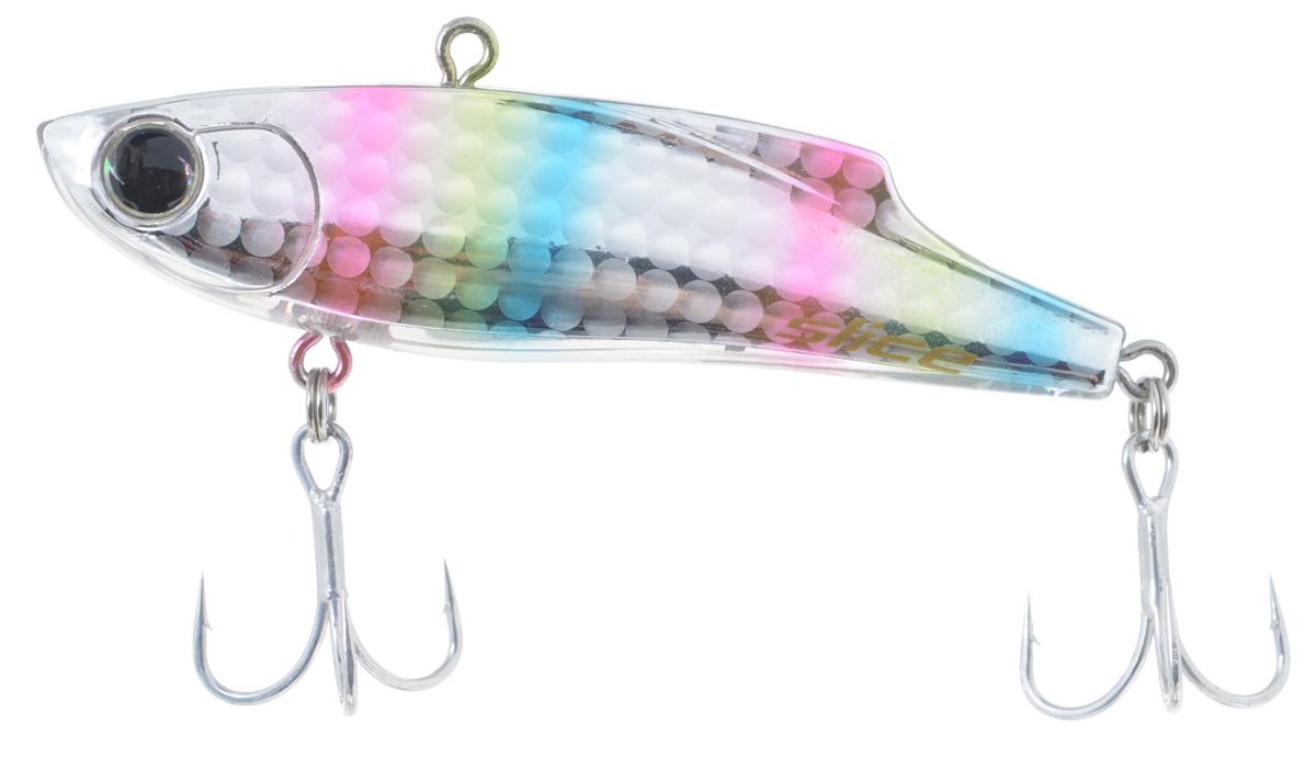 Воблер Maria Slice, тонущий, цвет: серебряный, розовый, голубой 7 см, 15 г10959Раттлин Maria Slice подойдет для ловли щуки, окуня, судака и форели. Отличная приманка для джиговой ловли летом и для зимней рыбалки. Частые колебания приманки прекрасно привлекают хищника с большого расстояния. Воблер выполнен из металла и пластика и оснащен тройниками Owner.