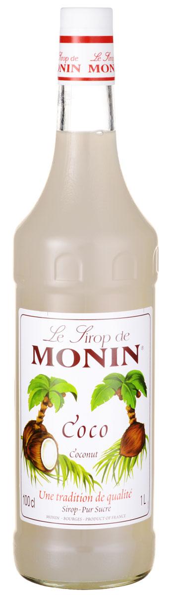 Monin Кокос сироп, 1 л0120710Кокосовый орех относится к ореху кокосовой пальмы, которая растет в тропических странах. Питательный кокосовый орех и его молоко широко используется в напитках и приготовлении пищи, так как сладкий вкус кокоса хорошо сочетается со сладким, горьким и соленым. Позвольте сиропу Monin Кокос придать чистый кокосовый аромат всем вашим тропическим вдохновленным напиткам.Сиропы Monin выпускает одноименная французская марка, которая известна как лидирующий производитель алкогольных и безалкогольных сиропов в мире. В 1912 году во французском городке Бурже девятнадцатилетний предприниматель Джордж Монин основал собственную компанию, которая специализировалась на производстве вин, ликеров и сиропов. Место для завода было выбрано не случайно: город Бурже находился в непосредственной близости от крупных сельскохозяйственных районов - главных поставщиков свежих ягод и фруктов.Производство сиропов стало ключевым направлением деятельности компании Monin только в 1945 году, когда пост главы предприятия занял потомок основателя - Пол Монин. Именно под его руководством ассортимент марки пополнился разнообразными сиропами из натуральных ингредиентов, которые молниеносно заслужили блестящую репутацию в кругу поклонников кофейных напитков и коктейлей. По сей день высокое качество остается базовым принципом деятельности французской марки. Сиропы Монин создаются исключительно из натуральных ингредиентов по уникальным технологиям, позволяющим сохранять в готовом продукте все полезные свойства природного сырья.Эксперты всего мира сходятся во мнении, что сиропы Monin - это законодатели мод в миксологии. Ассортимент французской марки на сегодняшний день является самым широким и насчитывает полторы сотни уникальных вкусовых решений. В каталоге компании можно найти как классические вкусы для кофейных напитков (шоколадный, ванильный, ореховый и другие сиропы), так и весьма экзотические варианты (сиропы со вкусом кокоса, зеленой мяты, тирамису, блю курасао, аниса, грейп