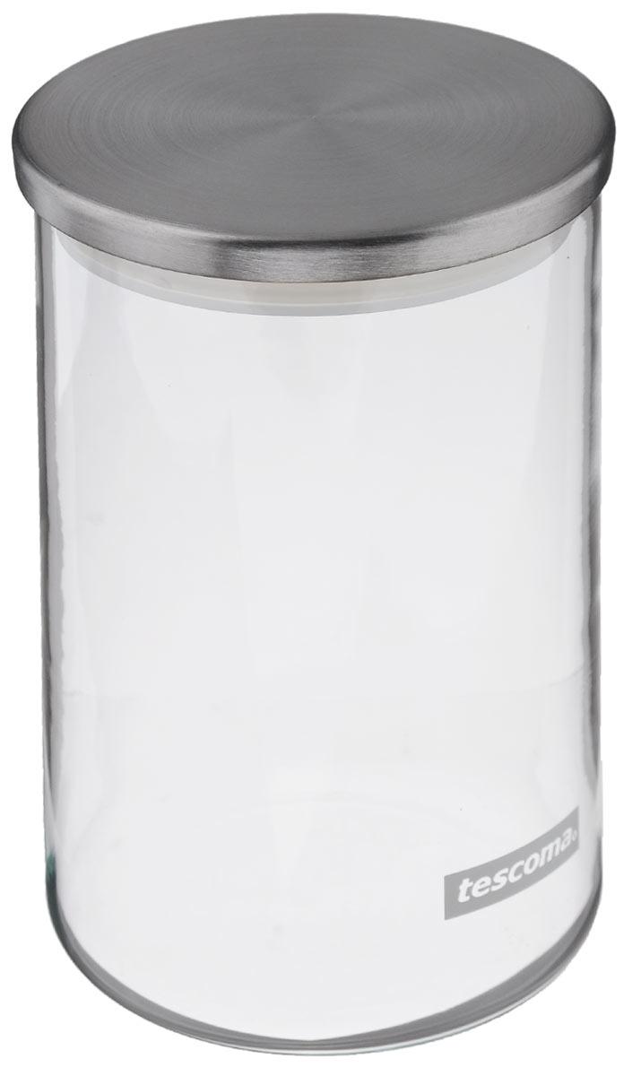 Емкость для специй Tescoma Monti, цвет: прозрачный, металлик, 0,8 лFA-5125 WhiteЕмкость для специй Tescoma Monti, изготовленная из прочного боросиликатного стекла, позволит вам хранить разнообразные специи. Емкость оснащена плотно прилегающей крышкой, изготовленной из первоклассной нержавеющей стали и прочной пластмассы и снабженная силиконовой прокладкой. Емкость для хранения специй станет незаменимым помощником на кухне.Можно мыть в посудомоечной машине, крышку - нельзя. Диаметр по верхнему краю: 9,5 см.Диаметр дна: 9 см.Высота: 16 см. Объем: 0,8 л.