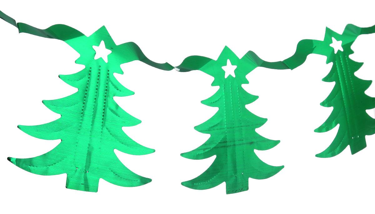 Новогодняя гирлянда Феникс-презент Magic Time, цвет: зеленый, длина 2,5 м38720Новогодняя гирлянда Феникс-презент Magic Time состоит из серии фигурок в виде елочек. Прекрасно подойдет для декора дома или офиса. Украшение, выполненное из ПЭТ (полиэтилентерефталата), легко складывается и раскладывается. Новогодние украшения несут в себе волшебство и красоту праздника. Они помогут вам украсить дом к предстоящим праздникам и оживить интерьер по вашему вкусу. Создайте в доме атмосферу тепла, веселья и радости, украшая его всей семьей.Длина гирлянды: 2,5 м.Размер елочки: 16 см х 15,5 см.