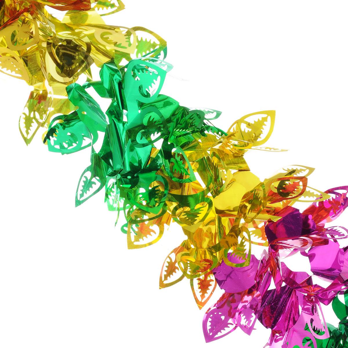 Новогодняя гирлянда EuroHouse, длина 300 см66493Новогодняя гирлянда EuroHouse прекрасно подойдет для декора дома или офиса. Украшение выполнено из ПЭТ (полиэтилентерефталата), легко складывается и раскладывается. Новогодние украшения несут в себе волшебство и красоту праздника. Они помогут вам украсить дом к предстоящим праздникам и оживить интерьер по вашему вкусу. Создайте в доме атмосферу тепла, веселья и радости, украшая его всей семьей. Диаметр (в сложенном виде): 26 см.