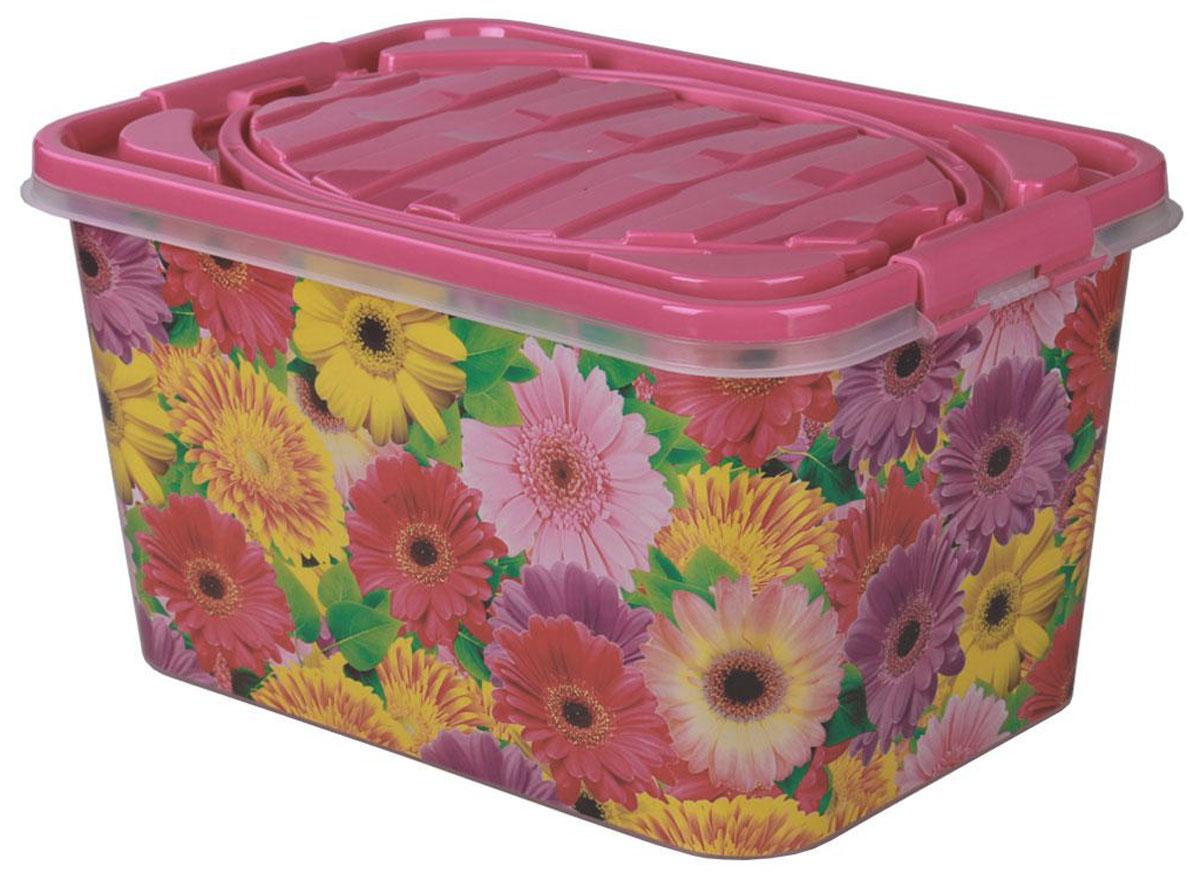 Контейнер для продуктов Альтернатива Глория, цвет: розовый, 15 л1004900000360Прямоугольный контейнер Альтернатива Глория изготовлен из прочного пластика и украшен изображением цветов. Контейнер оснащен крышкой, которая плотно закрывается на крепления, расположенные по бокам. Изделие имеет ручки для удобной переноски. Контейнер предназначен для хранения и транспортировки продуктов. Также изделие можно использовать в качестве корзины для пикника. Контейнер Альтернатива Глория станет незаменимым дома, на даче или на природе.