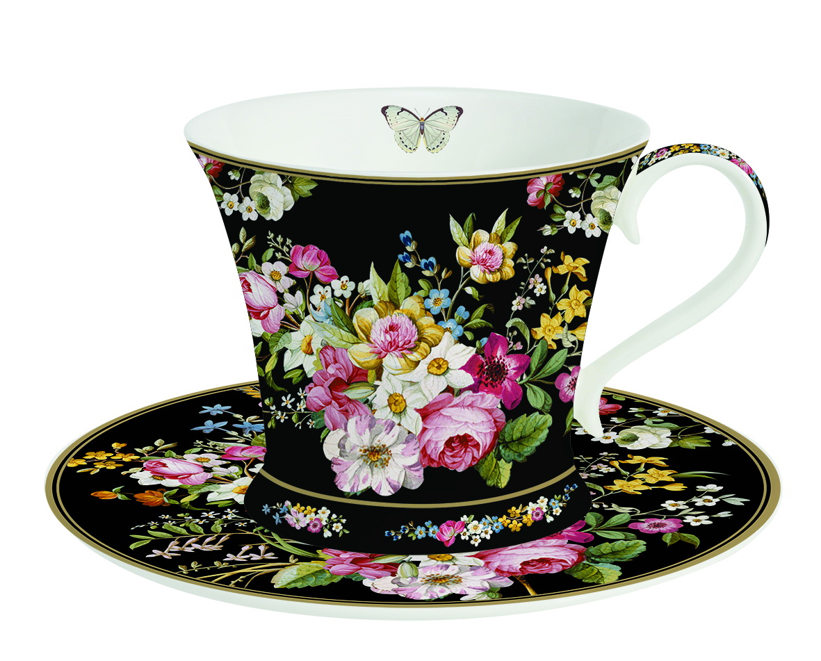 Чайная пара Nuova R2S Все в цвету, 2 предмета115510Чайная пара Nuova R2S Все в цвету состоит из чашки и блюдца, изготовленных из высококачественного костяного фарфора Bone China. Изделия оформлены оригинальным изображением цветов.Такой набор прекрасно дополнит сервировку стола к чаепитию и подчеркнет ваш изысканный вкус. Прекрасный подарок к любому случаю. Можно мыть в посудомоечной машине и использовать в СВЧ-печи. Объем чашки: 180 мл. Диаметр чашки (по верхнему краю): 9 см. Высота чашки: 7,5 см. Диаметр блюдца: 15,5 см.