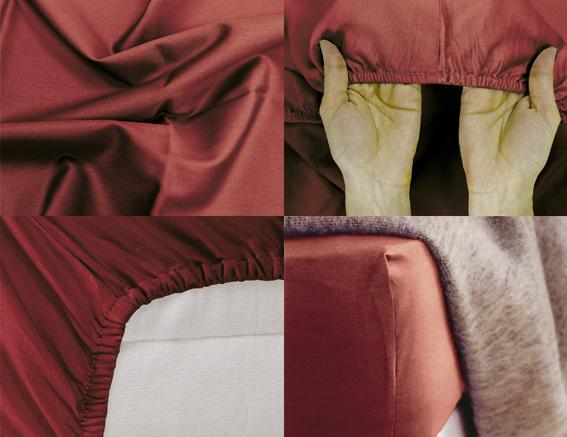 Простыня на резинке Хлопковый Край Premium, цвет: бордовый, 208 см х 186 смU210DFПростыня на резинке Хлопковый Край Premium, изготовленная из сатина (100% хлопок), будет превосходно смотреться с любыми комплектами белья. Ткань приятная на ощупь, при этом она прочная, хорошо сохраняет форму и легко гладится. Простыня прошита резинкой, что обеспечивает более комфортный отдых, так как она прочно удерживается на матрасе и избавляет от необходимости часто ее поправлять. Простынь подходит для матраса размером 200 см х 180 см.