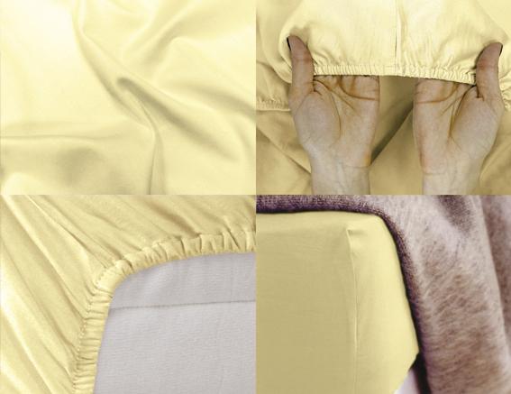Простыня на резинке Хлопковый Край Premium, цвет: ванильный, 208 х 186 см531-105Простыня на резинке Хлопковый Край Premium, изготовленная из сатина (100% хлопок), будет превосходно смотреться с любыми комплектами белья. Ткань приятная на ощупь, при этом она прочная, хорошо сохраняет форму и легко гладится. Простыня прошита резинкой, что обеспечивает более комфортный отдых, так как она прочно удерживается на матрасе и избавляет от необходимости часто ее поправлять. Простынь подходит для матраса размером 200 см х 180 см.
