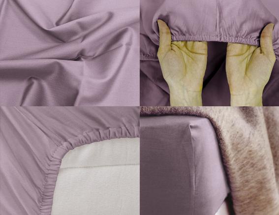 Простыня на резинке Хлопковый Край Premium, цвет: лиловый, 208 см х 186 смPR-2WПростыня на резинке Хлопковый Край Premium, изготовленная из сатина (100% хлопок), будет превосходно смотреться с любыми комплектами белья. Ткань приятная на ощупь, при этом она прочная, хорошо сохраняет форму и легко гладится. Простыня прошита резинкой, что обеспечивает более комфортный отдых, так как она прочно удерживается на матрасе и избавляет от необходимости часто ее поправлять. Простынь подходит для матраса размером 200 см х 180 см.