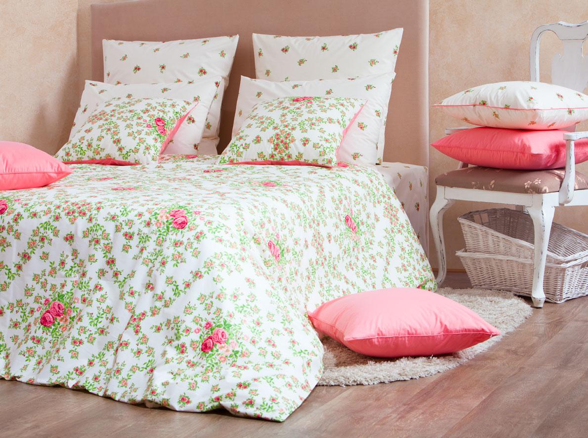Комплект белья Mirarossi Monica, 2-спальный, наволочки 50х70, цвет: светло-бежевый, розовый, зеленыйCLP446Роскошный комплект постельного белья Mirarossi Monica изготовлен из перкаля (100% хлопка). Ткань приятная на ощупь, при этом она прочная, хорошо сохраняет форму и легко гладится. Комплект состоит из простыни, пододеяльника и двух наволочек. Перкаль не дает проходить перьям и пуху, что является хорошим свойством для пошива комплектов постельного белья, а из-за своей толщины и износостойкости из этого материала шьются парашюты и паруса.Теплое и нежное постельное белье Mirarossi Monica создаст неповторимую атмосферу в вашей спальне.Плотность ткани: 135 г/м2.