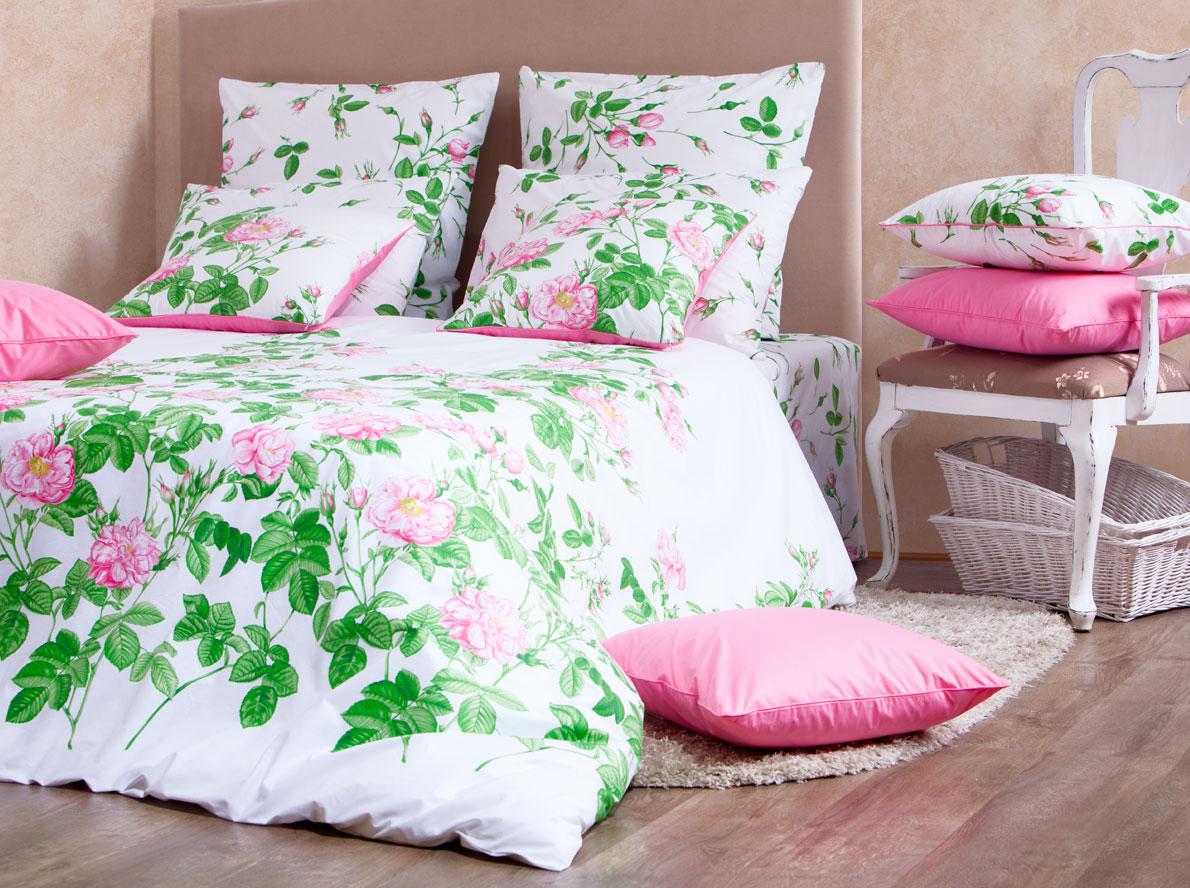 Комплект белья Mirarossi Patrizia, 1,5-спальный, наволочки 70х70, цвет: белый, розовый, зеленыйK100Роскошный комплект постельного белья Mirarossi Patrizia выполнен из ткани перкаль, натурального 100% хлопка. Ткань приятная на ощупь, при этом она прочная, хорошо сохраняет форму и не образует катышков на поверхности. Инновационная технология обработки ткани Easy Care позволяет белью дольше оставаться свежим. Органические активные вещества Easy Care на основе натуральных компонентов, эффективно препятствуют сминаемости и деформации ткани, что позволяет вам практически не тратить время на глажку постельного белья. Комплект состоит из пододеяльника, простыни и двух наволочек. Изделия оформлены цветочным принтом. Благодаря такому комплекту постельного белья вы создадите неповторимую атмосферу в вашей спальне. Плотность ткани: 135 гр/м2.
