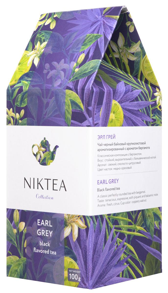 Niktea Earl Grey черный ароматизированный чай, 100 г0120710Niktea Earl Grey - классическая композиция с бергамотом. Отличается свежим смолисто-цитрусовыми нотами и стойким, выразительным вкусом с пряно-бальзамической нотой.Коллекция NikTea разработана командой экспертов, имеющих богатый опыт в чайной индустрии. Во время ее создания выбирались самые надежные поставщики из Европы и стран происхождения чая, а в линейку включили не только топовые аутентичные позиции, но и новые интересные рецептуры в традициях современной чайной миксологии.NikTea - это действительно качественный чай. Для истинных ценителей мы предлагаем безупречное качество: отборное сырье, фасовку на высокотехнологичном производственном комплексе в России, постоянный педантичный контроль готового продукта, а также сертификацию сырья по международным стандартам.NikTea - это разнообразие. В линейках листового и пакетированного чаяпредставлены все основные группы вкусов - от классического черного и зеленого чая до ароматизированных, фруктовых и травяных композиций.NikTea - это стиль. Необычная упаковка с модным авторским дизайном создает яркий и запоминающийся стиль, а интересные коктейльные рецептуры дают возможность экспериментировать со вкусами.В листовой коллекции Niktea воплощена самобытность различных стран, яркие образы различных культур. Среди 6 купажей самобытных купажей каждый найдет свой любимый вкус для чаепития в любой ситуации - на работе, дома или в самых удаленных уголках планеты.Для такого чая мы создали и соответствующую упаковку: колоритный дизайн, удобный клапан с перфорацией для многократного использования, оригинальная по форме пачка с фольгированным герметичным пакетом, который сохраняет свежесть аромата и вкуса на долгое время.