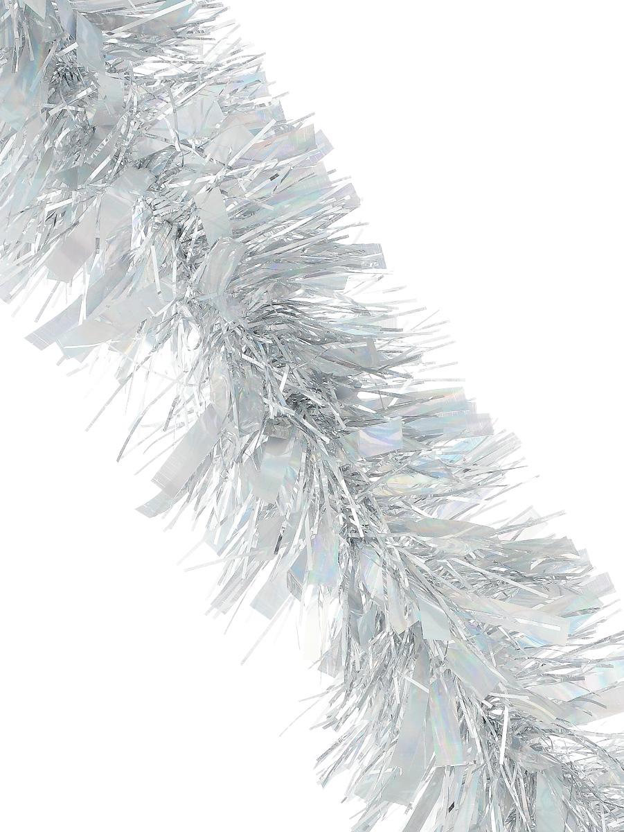 Мишура новогодняя Sima-land, цвет: серебристый, диаметр 9,6 см, длина 200 см. 706596C0038550Мишура новогодняя Sima-land, выполненная из фольги, поможет вам украсить свой дом к предстоящим праздникам. Мишура армирована, то есть имеет проволоку внутри и способна сохранять приданную ей форму. Новогодней мишурой можно украсить все, что угодно - елку, квартиру, дачу, офис - как внутри, так и снаружи. Можно сложить новогодние поздравления, буквы и цифры, мишурой можно украсить и дополнить гирлянды, можно выделить дверные колонны, оплести дверные проемы.