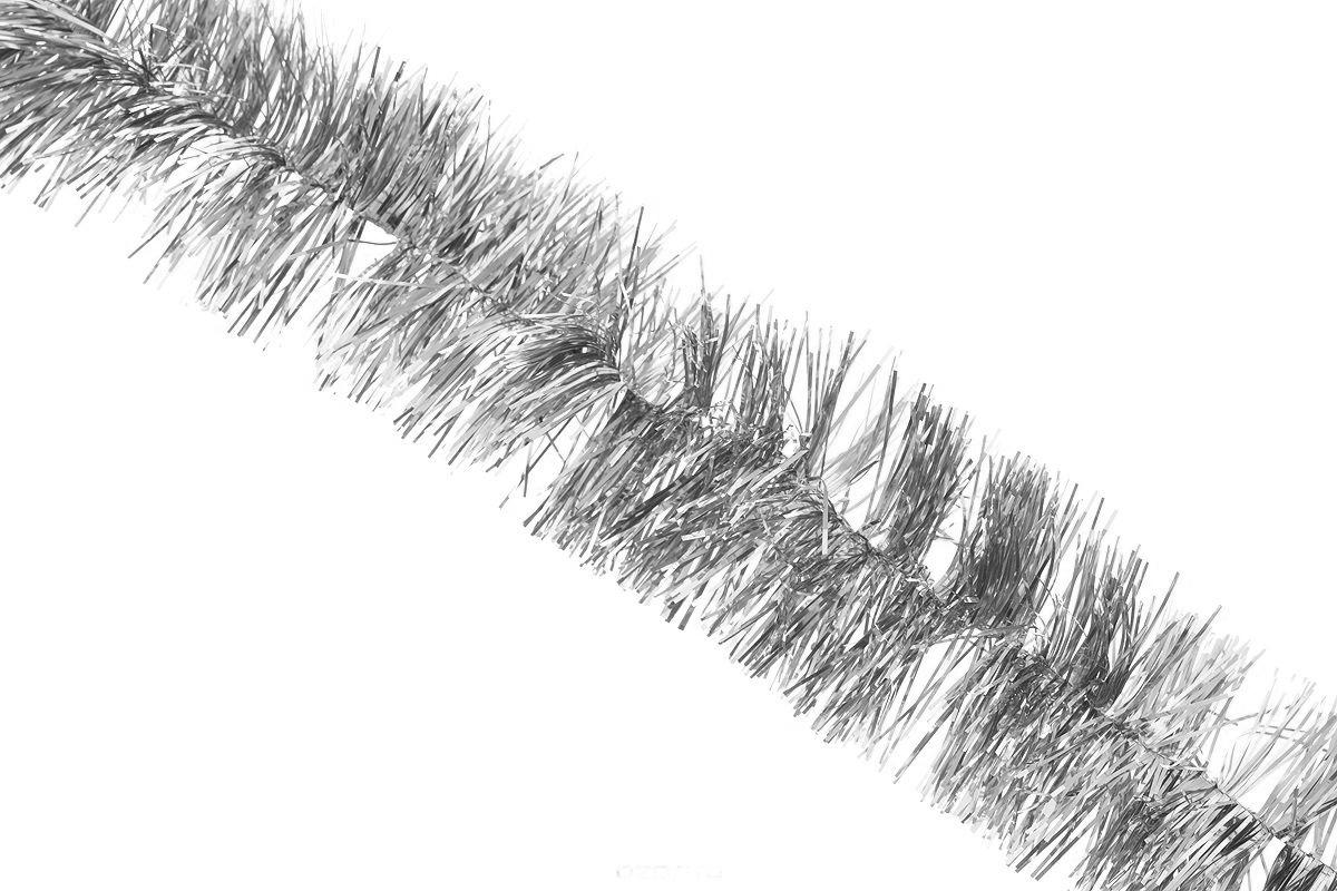 Мишура новогодняя Sima-land, цвет: серебристый, диаметр 4 см, длина 138 см. 701305C0038550Новогодняя мишура Sima-land, выполненная из фольги, поможет вам украсить свой дом к предстоящим праздникам. А новогодняя елка с таким украшением станет еще наряднее. Мишура армирована, то есть имеет проволоку внутри и способна сохранять любую форму, которую вы ей придадите. Новогодней мишурой можно украсить все, что угодно - елку, квартиру, дачу, офис - как внутри, так и снаружи. Можно сложить новогодние поздравления, буквы и цифры, мишурой можно украсить и дополнить гирлянды, можно выделить дверные колонны, оплести дверные проемы.