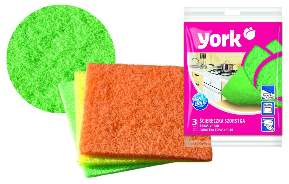 Губка абразивная York Бетти, 13 х 14 см, 3 штSVC-300Абразивная губка York Бетти эффективно удаляет сильные загрязнения, идеально подходит для чистки застарелых загрязнений на посуде и кухонной плите. Обладает повышенной прочностью, что обуславливает ее долговечность. В наборе - 3 разноцветные губки.