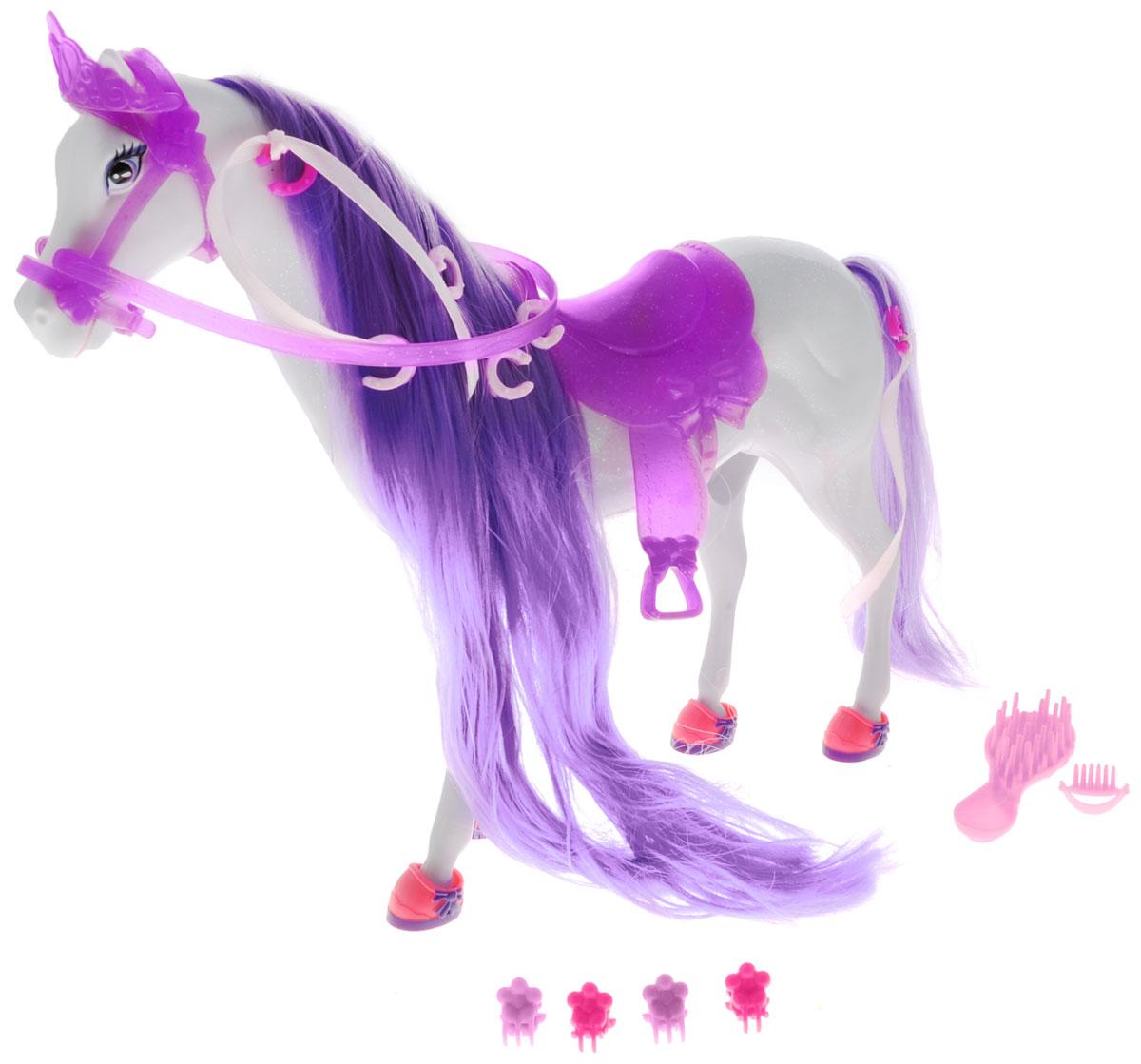 Simba Транспорт для кукол Лошадь для Штеффи цвет сиреневый simba игровой набор с куклой штеффи water styles fashion