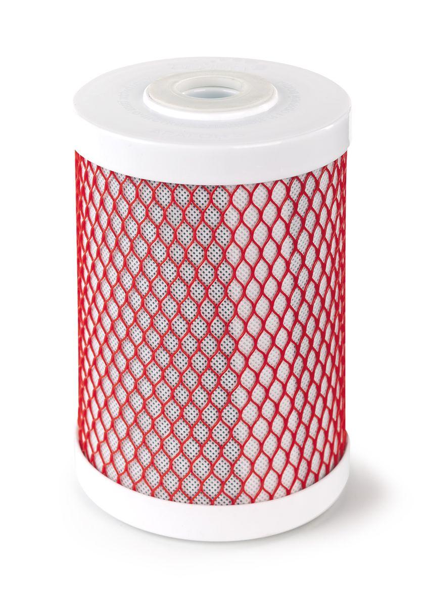 Картридж Арагон-3 Эко используется для системы Эко, Арагон+карбон-блокBL505Картридж Арагон 3 Эко.Картридж Арагон 3 ЭКО – композитный картридж с тремя стадиями очистки: механическая, ионообменная и сорбционная. Состоит из предфильтра, материала Арагон и карбон-блока. В картридже Арагон 3 ЭКО применена особая уникальная технология Monocondensing для монодисперсного распределения пор полимера, что увеличивает гарантии задержания любых загрязнений во всем объеме картриджа и сохранение высоких характеристик очистки на всем протяжении ресурса.Обладает важными свойствами:Антисброс – позволяет необратимо задерживать все отфильтрованные примеси;Снижение жесткости (не рекомендуется использовать для очистки очень жесткой воды); Самоиндикация - картридж сам подскажет окончание ресурса (уменьшение напора в кране для чистой воды).Используется в системе Гейзер Эко.Ресурс картриджа 12000 литровДополнительная информация окартридже:Картридж Арагон 3 Эко служит для очистки водопроводной воды от хлора, тяжёлых металлов, железа, нефтепродуктов, механических частиц и др. нежелательных примесей.Жесткость воды снижается до уровня полезного для человека. Вода насыщается полезным кальцием в форме арагонита. Картридж Арагон 3 ЭКО имеет новейшую технологию очистки и обеззараживания воды от вирусов, бактерий, цист, позволяющую получать полностью безопасную и полезную воду без дополнительного кипячения. В картридже Арагон 3 ЭКО существенно снижены размеры микроглобул, что позволяет значительно увеличить электрокинетический потенциал сорбента, за счет увеличения поверхности соприкосновения. В картридже Арагон 3 ЭКО применена особая уникальная технология Monocondensing для монодисперсного распределения пор полимера, что увеличивает гарантии задержания любых загрязнений во всём объёме картриджа и сохранение высоких характеристик очистки на всём протяжении ресурса.