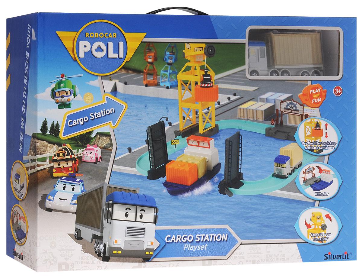 """Игровой набор Robocar Poli """"Порт с разводным мостом"""" создан специально для маленьких гонщиков. В набор входят: машинка Терри, трек, погрузочный кран, пирс с лодкой, мост, 2 дорожных знака, фонарь, 4 контейнера, 2 ограждения и вкладыш с наклейками для украшения трека. Машинка оснащена инерционным механизмом: потяните ее назад. А затем отпустите - и она быстро поедет вперед. Башня подъемного крана вращается на 360 градусов, а чтобы поднять или опустить груз, достаточно покрутить колесико на кране. Поднимите разводной мост, чтобы лодка смогла проплыть в гавань, а затем присоедините к ней ступеньку, чтобы машинка въехала на борт. Въезд в порт дополнен поднимающимся шлагбаумом. Игровой набор Robocar Poli """"Порт с разводным мостом"""" подарит вашему ребенку массу впечатлений и поспособствует развитию внимания и реакции. Ваш ребенок будет в восторге от такого подарка!"""
