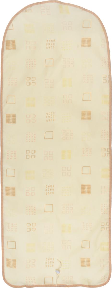 Чехол для гладильной доски Detalle, цвет: бежевый, коричневый, 125 х 47 смGC204/30Чехол для гладильной доски Detalle, выполненный из хлопка с подкладкой из мягкого войлокообразного полотна (ПЭФ), предназначен для защиты или замены изношенного покрытия гладильной доски. Чехол снабжен стягивающим шнуром, при помощи которого вы легко отрегулируете оптимальное натяжение чехла и зафиксируете его на рабочей поверхности гладильной доски.Из войлокообразного полотна вы можете вырезать подкладку любого размера, подходящую именно для вашей доски. Этот качественный чехол обеспечит вам легкое глажение. Он предотвратит образование блеска и отпечатков металлической сетки гладильной доски на одежде. Войлокообразное полотно практично и долговечно в использовании. Размер чехла: 125 см x 47 см.Максимальный размер доски: 120 см х 42 см.Размер войлочного полотна: 130 см х 52 см.