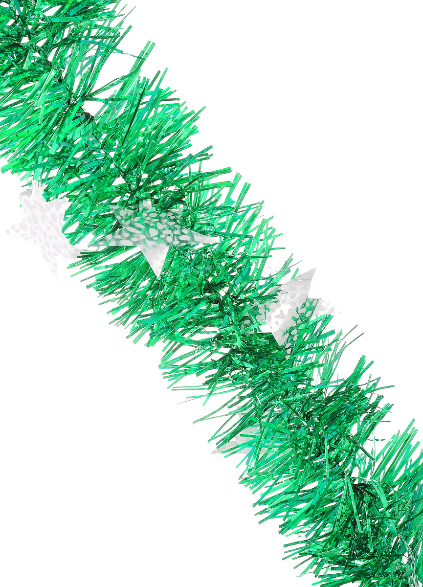 Мишура новогодняя Sima-land, цвет: зеленый, серебристый, диаметр 9 см, длина 2 м. 82598360446Новогодняя мишура Sima-land, выполненная из ПЭТ (полиэтилентерефталат), поможет вам украсить свой дом к предстоящим праздникам. Изделие декорировано звездами. Новогодняя елка с таким украшением станет еще наряднее. Мишура армирована, то есть имеет проволоку внутри и способна сохранять форму. Новогодней мишурой можно украсить все, что угодно - елку, квартиру, дачу, офис - как внутри, так и снаружи. Можно сложить новогодние поздравления, буквы и цифры, мишурой можно украсить и дополнить гирлянды, можно выделить дверные колонны, оплести дверные проемы. Коллекция декоративных украшений из серии Magic Time принесет в ваш дом ни с чем не сравнимое ощущение волшебства! Создайте в своем доме атмосферу тепла, веселья и радости, украшая его всей семьей.