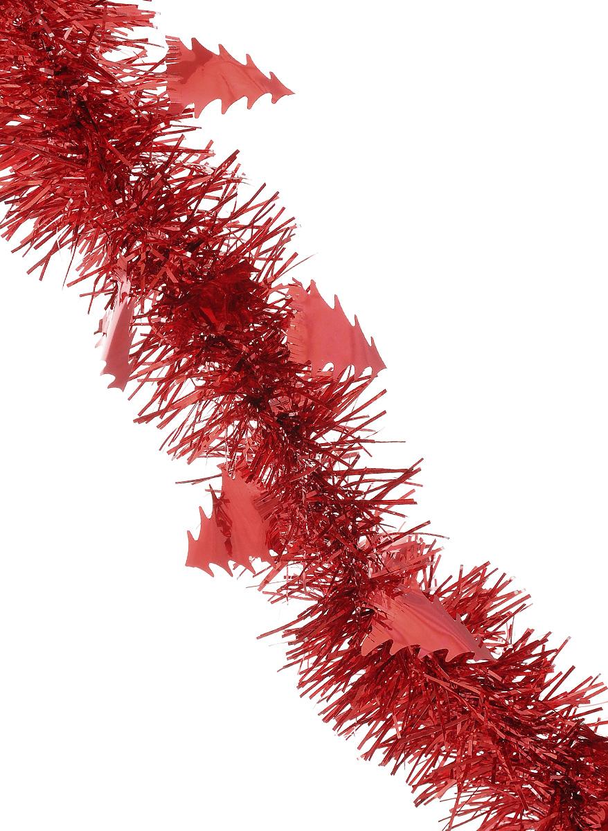 Мишура новогодняя Sima-land, цвет: красный, диаметр 5 см, длина 200 см. 702610NLED-454-9W-BKМишура новогодняя Sima-land, выполненная из фольги, поможет вам украсить свой дом к предстоящим праздникам. Мишура армирована, то есть имеет проволоку внутри и способна сохранять приданную ей форму.Новогодняя елка с таким украшением станет еще наряднее. Новогодней мишурой можно украсить все, что угодно - елку, квартиру, дачу, офис - как внутри, так и снаружи. Можно сложить новогодние поздравления, буквы и цифры, мишурой можно украсить и дополнить гирлянды, можно выделить дверные колонны, оплести дверные проемы. Коллекция декоративных украшений из серии Зимнее волшебство принесет в ваш дом ни с чем несравнимое ощущение праздника! Создайте в своем доме атмосферу тепла, веселья и радости, украшая его всей семьей.