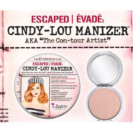 theBalm Хайлайтер Cindy Lou Manizer,8,5 гр хайлайтер thebalm themanizer sisters