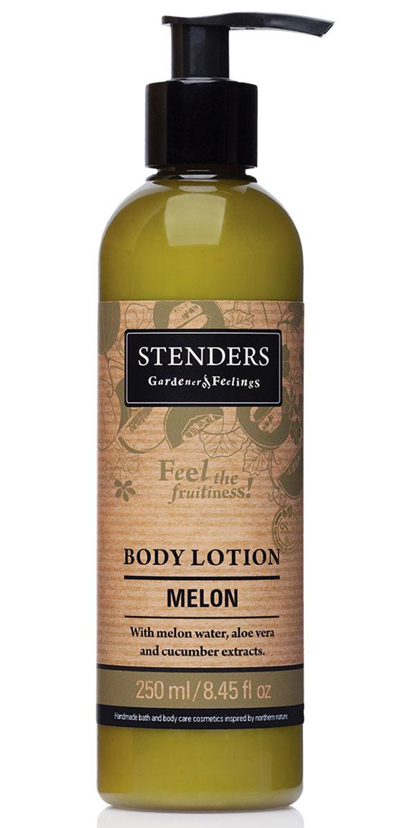 Stenders Лосьон для тела Дыня, 250 млFS-36054Этот легкий лосьон для тела быстро впитывается и день за днем заботится о сохранении необходимого уровня влажности вашей кожи. Обогащённый освежающим экстрактом алоэ, лосьон тонизирует и смягчит вашу кожу. А аромат сочной дыни наполнит вас радостью лета. Сок алоэ является одним из самых сильных природных увлажнителей. Кроме того, он обладает выраженным противовоспалительным, противомикробным, ранозаживляющим и десенсибилизирующим действием (снимает аллергические реакции). Повышает резистентность кожи к воздействию УФ-излучения.Дыня (экстракт) - действительно зрелая дыня – настоящий символ плодородия лета. Свежесть согретой солнцем, ароматной дыни заключена в каждой ароматной капле экстракта дыни. Он придаст вашей коже неотразимый аромат. Летнюю свежесть и подлинную чистоту таит в себе экстракт зеленых огурцов. Он действует освежающе и успокаивающе. Кроме того, способен уменьшить припухлость кожи, придавая вам свежий вид. Ши масло тщательно питает, увлажняет, смягчает кожу и задерживает ее старение. Этому маслу присуща способность глубоко впитываться в кожу, длительно питая и защищая ее.