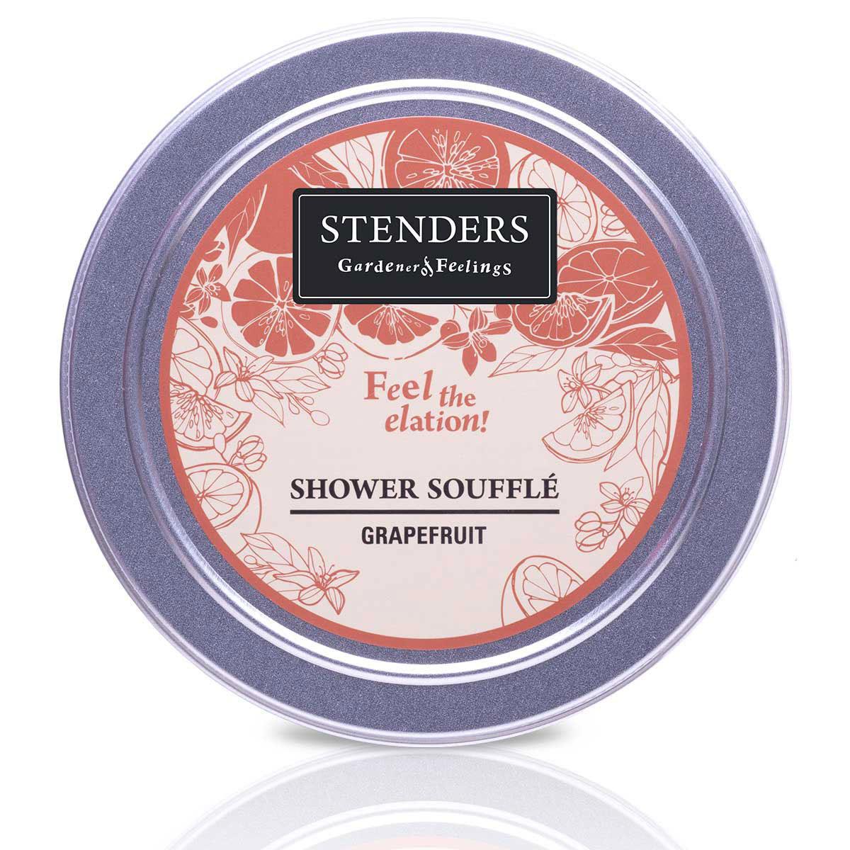 Stenders Мусс для душа Грейпфрутовый, 110 гFS-00897Эта легкая кремовая пена очищает кожу нежнейшими прикосновениями. Это исключительная возможность насладиться удовольствием от купания. Почувствуйте, как жизнеутверждающий аромат эфирного масла грейпфрута вдохновляет вас по-настоящему наслаждаться жизнью. Этот мусс бережно относится к вашей коже – его ph 5,5 и он не содержит парабенов и сульфатов.PH - нейтральный мягкий воздушный мусс для мытья тела. Грейпфрутовому эфирному маслу присуща солнечная и оживляющая сила, которая взбодрит как тело, так и дух. Кроме того, оно может помочь улучшить структуру вашей кожи. Глицерин – это органическое соединение с увлажняющим и смягчающим кожу воздействием. Кроме того, ему присуща способность привлекать влагу из воздуха.