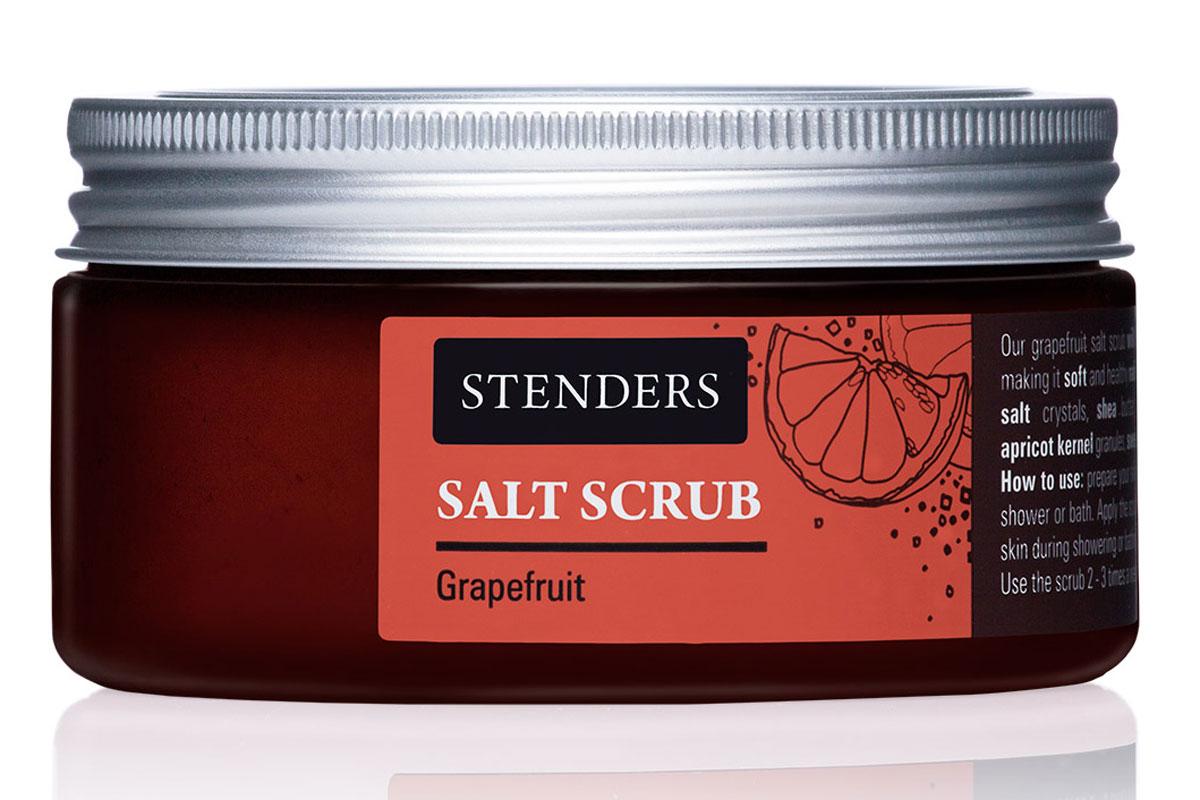 Stenders Солевой скраб Южный грейпфрут, 300 гSK01152Этот бодрящий скраб для тела с кристаллами соли пробудит вас от монотонности ежедневной городской жизни. Он энергично массирует вашу кожу, помогая сохранить ее упругость. Для одновременного смягчения вашей кожи и придания ей бархатистости мы добавили ценные натуральные масла. Почувствуйте, как бодрящее масло грейпфрута вносит оживление в вашу повседневность.Питательное масло сладкого миндаля великолепно в косметике, поскольку является полезным даже для самой чувствительной кожи. Оно абсолютно легко впитывается в вашу кожу, смягчая ее. Ши масло - Из всех масел, которые можно найти в природе, именно масло ши кажется нам наиболее ценным. Оно тщательно питает, увлажняет, смягчает кожу и задерживает ее старение. Этому маслу присуща способность глубоко впитываться в кожу, длительно питая и защищая ее. Высокоценное масло жожоба глубоко питает вашу очень сухую кожу, заботясь о ее эластичности. Почувствуйте, как ваша кожа мгновенно приобретает мягкость и гладкость. Грейпфрутовому эфирному маслу присуща солнечная и оживляющая сила, которая взбодрит как тело, так и дух. Кроме того, оно может помочь улучшить структуру вашей кожи. Из косточек солнечных абрикосов получают гранулы, которые используются в качестве натурального пилинга для красоты вашей кожи. Нежно, но эффективно гранулы освобождают кожу от отмерших клеток, придавая ей здоровый вид.