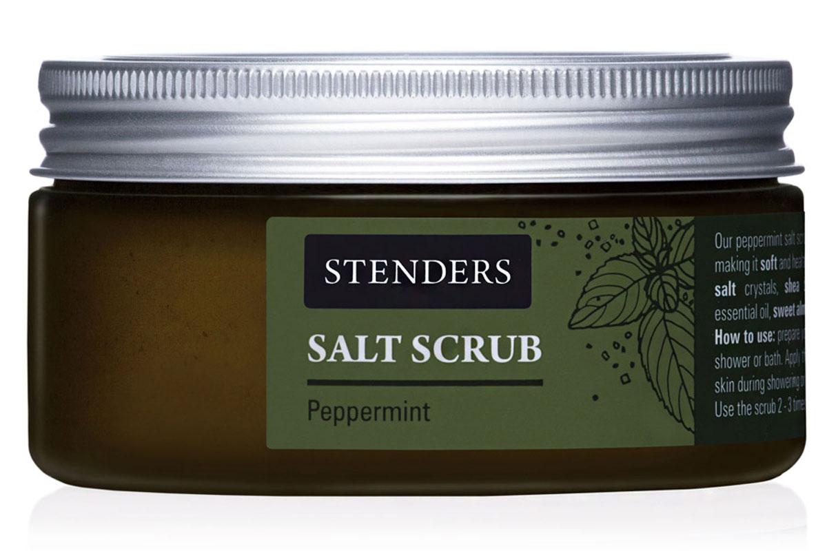 Stenders Солевой скраб Северная мята, 300 гFS-36054Этот охлаждающий скраб для тела с кристаллами соли освежит вас в жаре городской жизни. Скраб аккуратно выравнивают каждую линию вашего тела, заботясь об эластичности вашей кожи. В то же время ценные натуральные масла смягчают вашу кожу, придавая ей бархатную нежность. Почувствуйте, как бодрящее масло мяты окутывает вас приятной прохладой.Эфирное масло зеленой мяты стимулирует организм, оно обладает свежим и таким знакомым ароматом. Это масло придает вам энергии и свежести. Кроме того, ему присущ приятно-освежающий, охлаждающий кожу эффект. Питательное масло сладкого миндаля великолепно в косметике, поскольку является полезным даже для самой чувствительной кожи. Оно абсолютно легко впитывается в вашу кожу, смягчая ее. Ши масло - Из всех масел, которые можно найти в природе, именно масло ши кажется нам наиболее ценным. Оно тщательно питает, увлажняет, смягчает кожу и задерживает ее старение. Этому маслу присуща способность глубоко впитываться в кожу, длительно питая и защищая ее. Высокоценное масло жожоба глубоко питает вашу очень сухую кожу, заботясь о ее эластичности. Почувствуйте, как ваша кожа мгновенно приобретает мягкость и гладкость.