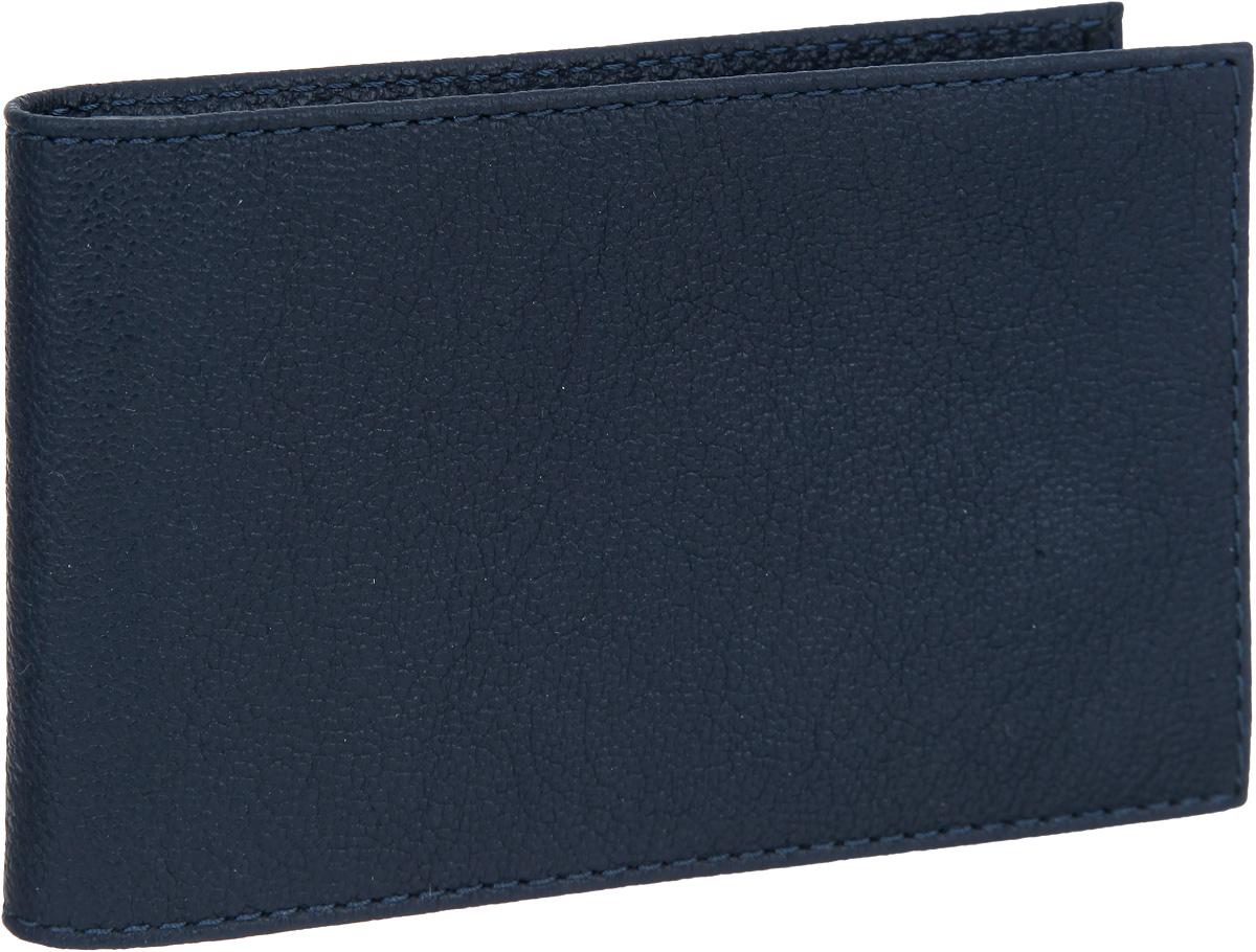 Визитница мужская Fabula Largo, цвет: темно-синий. V.1.LGS98152Стильная горизонтальная визитница Fabula Largo выполнена из натуральной кожи с зернистой фактурой, оформлена тиснением с символикой бренда.Изделие раскладывается пополам. Внутри визитницы расположен вкладыш из прозрачного ПВХ, который включает в себя двадцать файлов для визиток или кредитных карт. Изделие поставляется в фирменной упаковке.Визитница Fabula Largo станет отличным подарком для человека, ценящего качественные и практичные вещи.