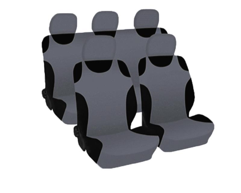 Набор чехлов на сиденье Phantom Cars spirit, цвет: серый, 9 предметов94672Набор чехлов на сиденье Phantom Cars spirit изготовлен из полиэстера с подложкой из поролона ивключает в себя: чехлы на подголовники - 5 шт, чехол-майка на передние сиденья - 2 шт, чехол-майка на заднее сиденье - 1 шт, чехол-майка на спинку заднего сиденья - 1 шт. Чехлы универсальных размеров подходят для любого автомобиля, а также могут использоваться в автомобилях с боковыми подушками безопасности. Форма майки позволяет использовать их на рельефных сиденьях, в том числе и на спортивных.