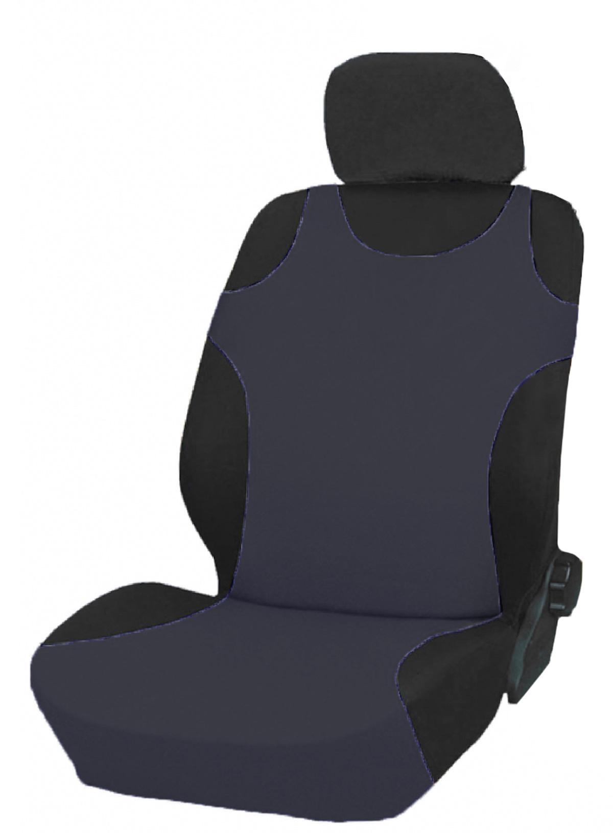 Чехол-майка на переднее сиденье Phantom, цвет: серый, 2 шт98298130Чехол-майка на переднее сиденье Phantom выполнен из полиэстера с поролоновой подложкой. Комплект состоит из двух чехлов-маек на передние сиденья автомобиля. Чехлы имеют универсальный размер и могут использоваться на сиденьях со встроенными боковыми подушками безопасности. Размеры: 112 см (+10 см резинка) х 46 см (по спинке сиденья, немного растягивается).