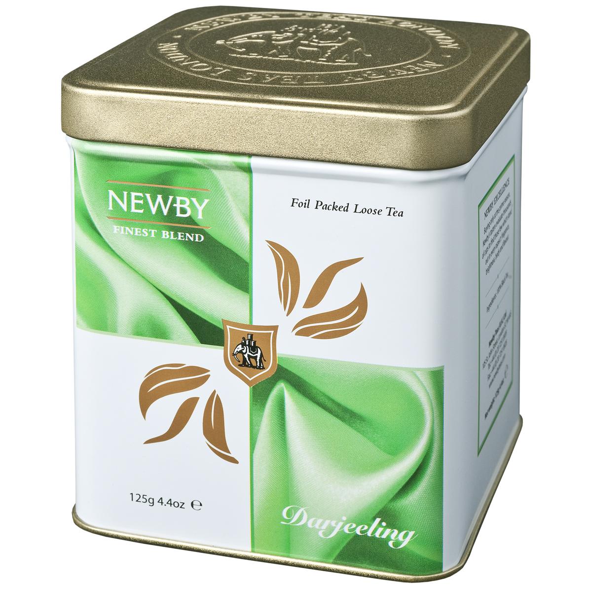 Newby Darjeeling черный листовой чай, 125 г0120710Чай Newby Darjeeling получил название шампанского среди чаев. Серебристые типсы с зеленоватыми листьями, светло-янтарный настой, цветочный аромат и немного вяжущий мускатный привкус.