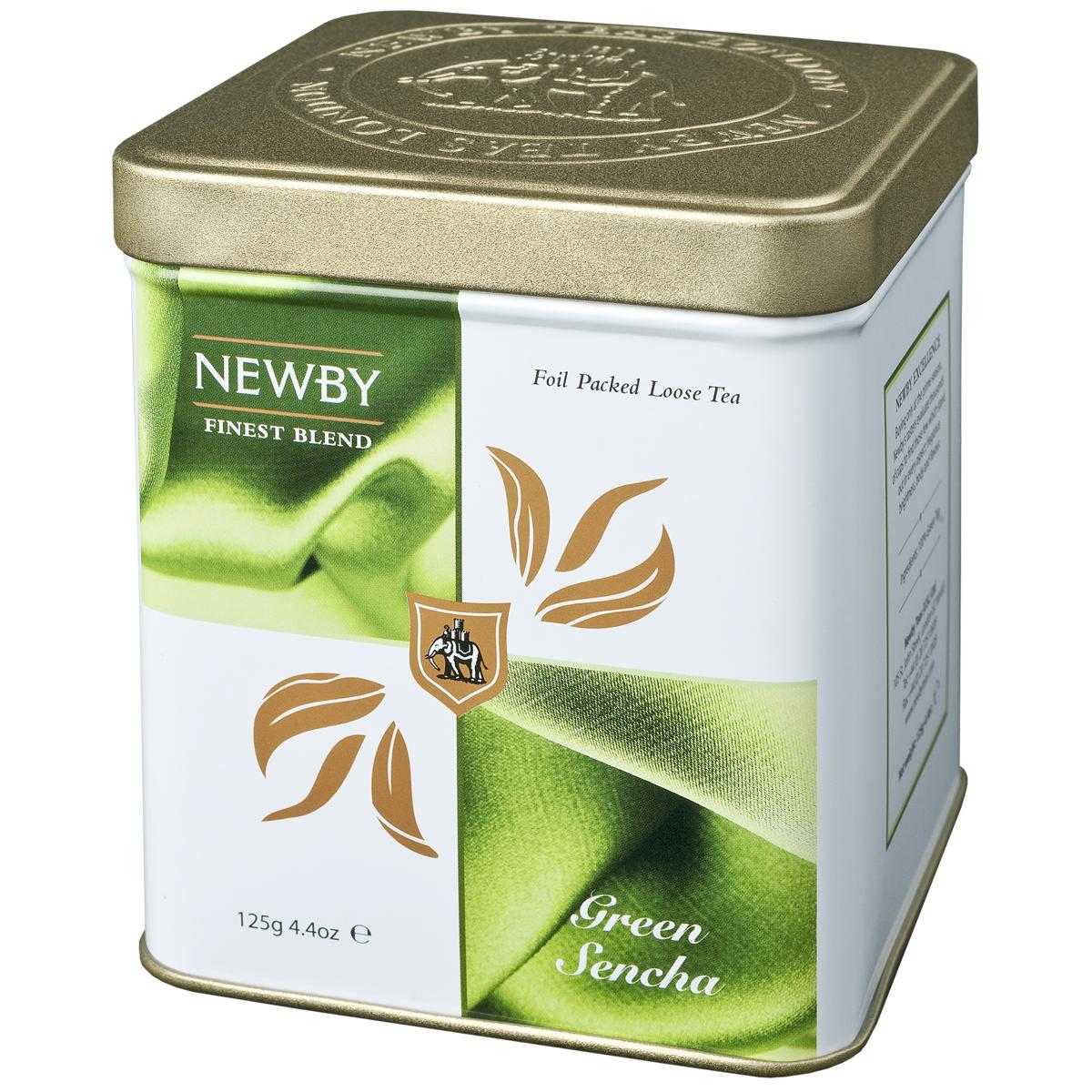 Newby Green Sencha зеленый листовой чай, 125 г0120710Собранные ранней весной, чайные листья самого популярного сорта зеленого чая Newby Green Sencha обрабатываются паром, что позволяет сохранить их первозданную свежесть. Обладает насыщенным превосходным ароматом риса.